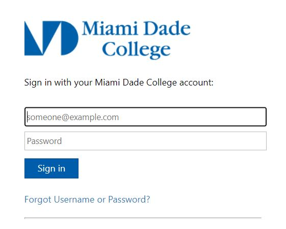 MDC blackboard login page