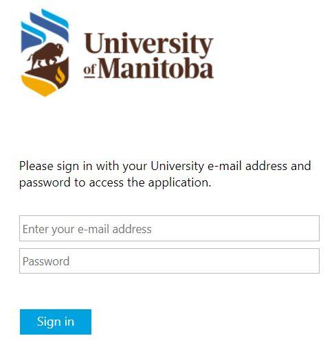 UM Learn login page screenshot.