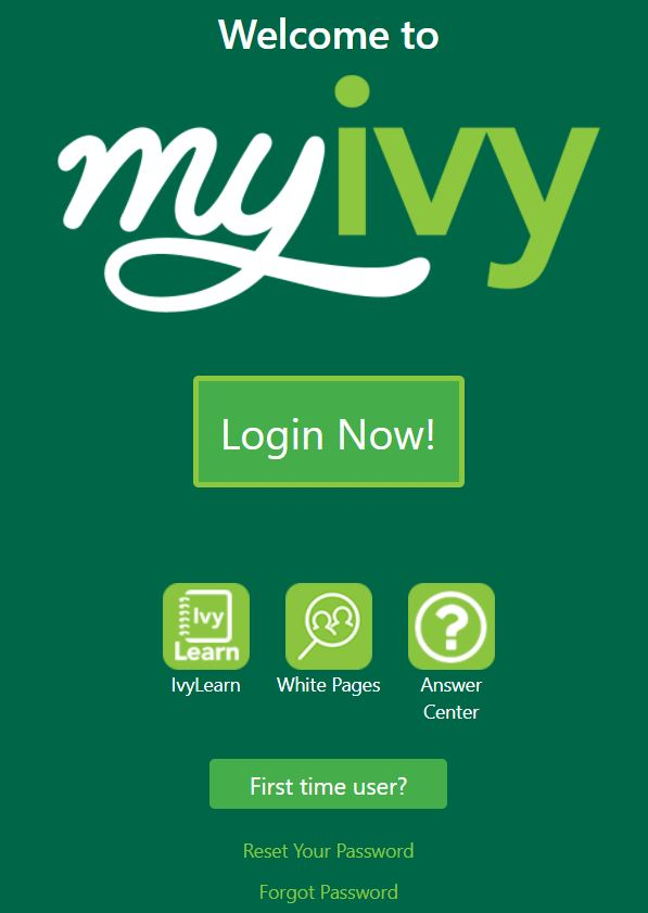 myivy login page.