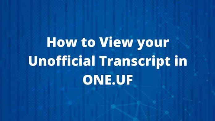 uf transcripts order guide