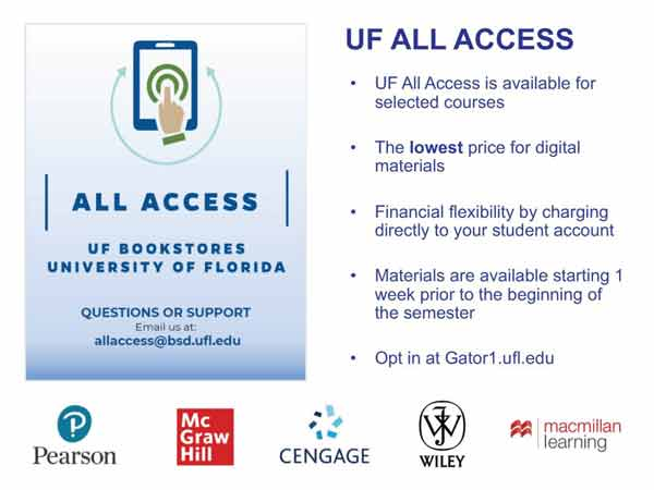 UF All Access page