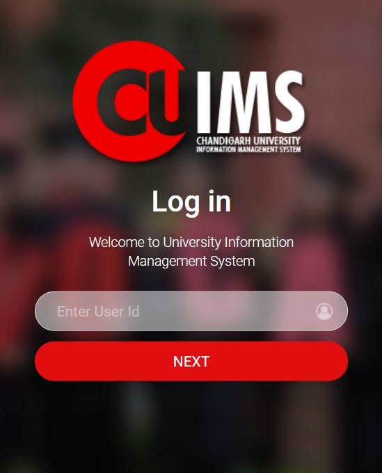 Cuims login page.