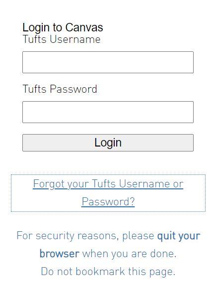 Tufts canvas login
