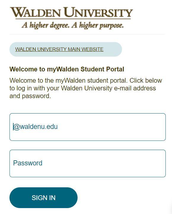 my Walden student portal login.