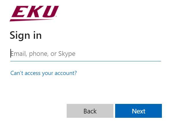 EKU Direct login.