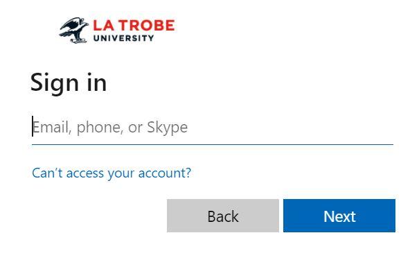 LaTrobe LMS login.