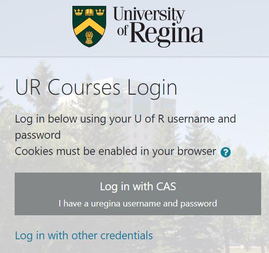 UR Courses login.